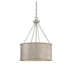 4 Light Pendant-Traditional Style with Industrial and Bohemian Inspirations-26.5 inches tall by 19 inches wide
