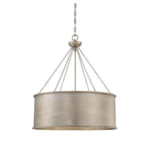 6 Light Pendant-Traditional Style with Industrial and Bohemian Inspirations-29 inches tall by 25 inches wide