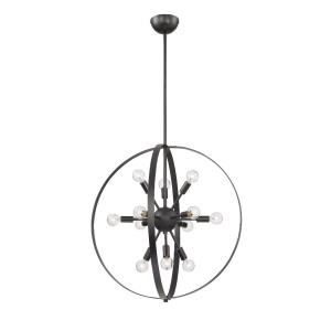 12 Light Chandelier-Contemporary Style with Modern and Mid-Century Modern Inspirations-26.5 inches tall by 24.5 inches wide