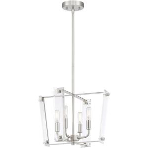 4 Light Pendant-Transitional Style with Modern and Contemporary Inspirations-11 inches tall by 16 inches wide