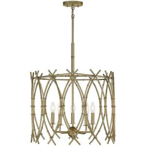 5 Light Pendant-24 inches tall by 22 inches wide
