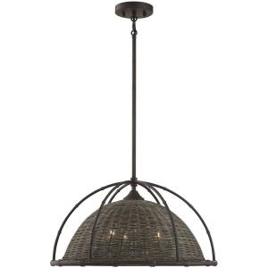 3 Light Pendant-18 inches tall by 21.75 inches wide