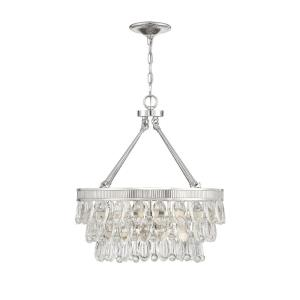 4 Light Pendant-Glam Style with Contemporary and Transitional Inspirations-22 inches tall by 20 inches wide