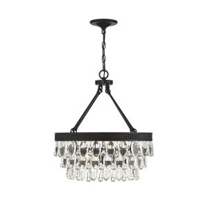 4 Light Pendant - Glamstyle with Contemporary and Transitional inspirations - 22 inches tall by 20 inches wide