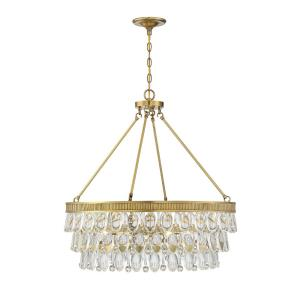 6 Light Pendant - Glamstyle with Contemporary and Transitional inspirations - 28 inches tall by 28 inches wide