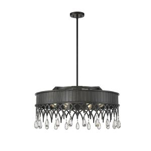 6 Light Pendant-Traditional Style with Vintage and Transitional Inspirations-14 inches tall by 29.5 inches wide