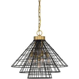 5 Light Pendant-17 inches tall by 20.5 inches wide