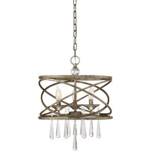 3 Light Pendant-Transitional Style with Traditional and Shabby Chic Inspirations-20 inches tall by 16 inches wide