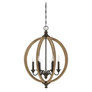 6 Light Pendant - Industrialstyle with Rustic and Farmhouse inspirations - 30 inches tall by 22 inches wide
