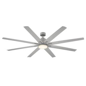 8 Blade Ceiling Fan with Light Kit - Modernstyle with Contemporary and Transitional inspirations - 14.87 inches tall by 72 inches wide