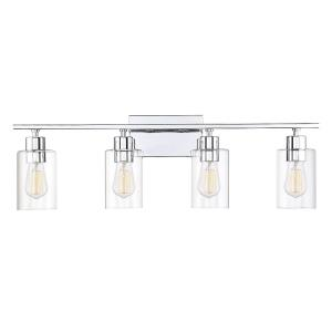 4 Light Bath Bar - Transitionalstyle with Contemporary and Modern inspirations - 9.75 inches tall by 30.88 inches wide