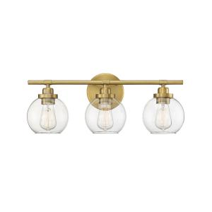 3 Light Bath Vanity - Mid-Century Modernstyle with Modern and Contemporary inspirations - 8.5 inches tall by 22.5 inches wide