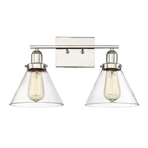 2 Light Bath Bar - Farmhousestyle with Vintage and Industrial inspirations - 10 inches tall by 17.75 inches wide
