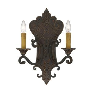 2 Light Wall Sconce - Traditionalstyle with Country French and Shabby Chic inspirations - 19 inches tall by 13.5 inches wide
