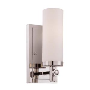 1 Light Wall Sconce - Contemporarystyle with Transitional and Modern inspirations - 9.63 inches tall by 4.5 inches wide