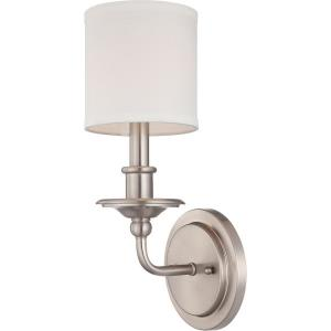 1 Light Wall Sconce-Traditional Style with Transitional Inspirations-14.25 inches tall by 5.5 inches wide