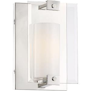 1 Light Wall Sconce-Modern Style with Contemporary and Scandinavian Inspirations-10.25 inches tall by 6.5 inches wide