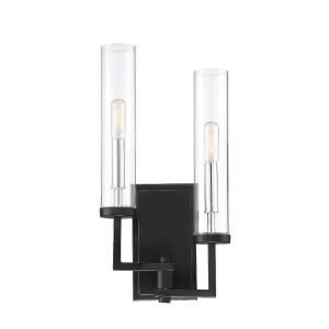 2 Light Wall Sconce-Modern Style with Contemporary and Scandinavian Inspirations-17 inches tall by 4 inches wide