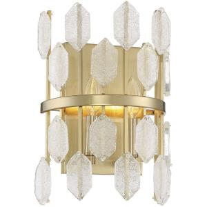 2 Light Wall Sconce - Glamstyle with Mid-Century Modern and Contemporary inspirations - 13.5 inches tall by 9 inches wide