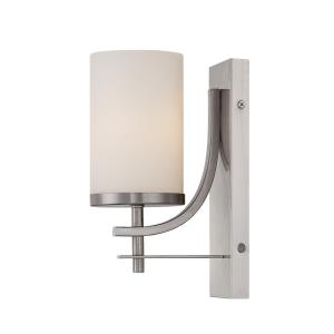 1 Light Wall Sconce - Industrialstyle with Transitional inspirations - 10 inches tall by 4.75 inches wide