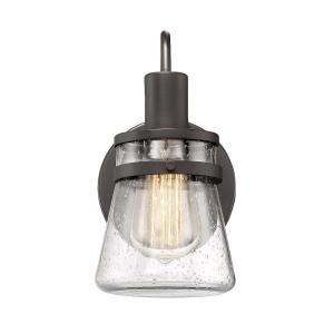 1 Light Wall Sconce - Rusticstyle with Modern Farmhouse and Transitional inspirations - 9.5 inches tall by 5 inches wide