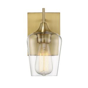 1 Light Wall Sconce - Contemporarystyle with Transitional and Bohemian inspirations - 9.5 inches tall by 4.75 inches wide