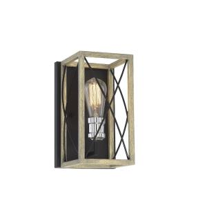 1 Light Wall Sconce - Farmhousestyle with Transitional and Rustic inspirations - 10.5 inches tall by 7 inches wide