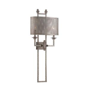 2 Light Wall Sconce-Industrial Style with Farmhouse and Contemporary Inspirations-39.25 inches tall by 15.5 inches wide