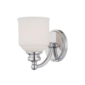 1 Light Wall Sconce-Industrial Style with Transitional Inspirations-7.75 inches tall by 5 inches wide