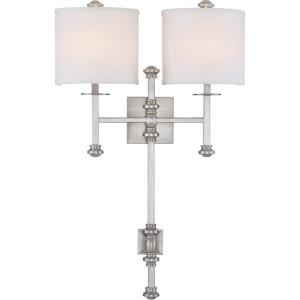 2 Light Wall Sconce-Traditional Style with Transitional and Bohemian Inspirations-28.63 inches tall by 18 inches wide