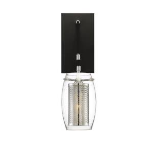1 Light Wall Sconce - Industrialstyle with Transitional and Contemporary inspirations - 16 inches tall by 4.75 inches wide
