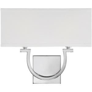 2 Light Wall Sconce - 12 inches tall by 14 inches wide