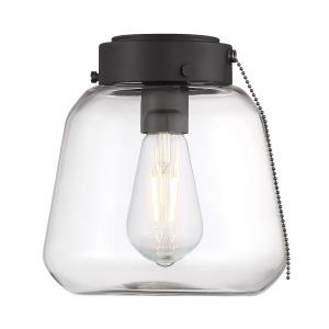 6.5W 1 LED Fan Light Kit-Industrial Style with Transitional and Farmhouse Inspirations-8.5 inches tall by 8.25 inches wide