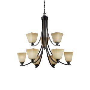 Parkfield - Nine Light Chandelier