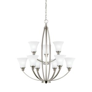 Metcalf - Nine Light 2-Tier Chandelier