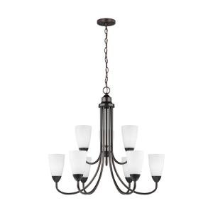 Seville - 75W Nine Light 2-Tier Chandelier
