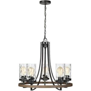 Gaston - 5 Light Chandelier - 24 inches wide by 22 inches high