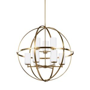 Alturas - 60W Nine Light 2-Tier Chandelier