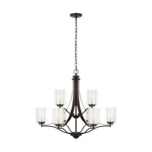 Elmwood Park - 32 Inch 9 Light Chandelier