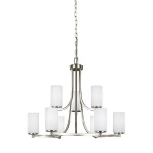 Hettinger - 60W Nine Light 2-Tier Chandelier
