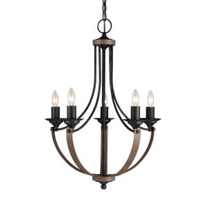 Corbeille - Five Light Chandelier