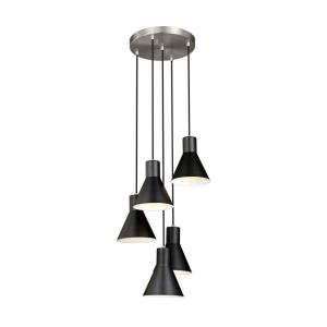 Towner - 60W Five Light Cluster Pendant