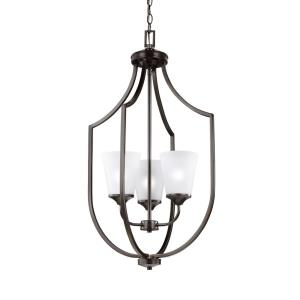 Hanford - Three Light Hall Foyer in Transitional Style - 18.13 inches wide by 32.75 inches high
