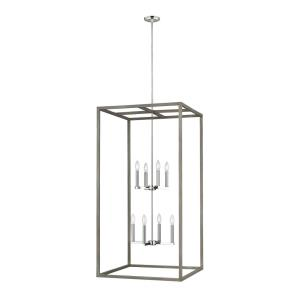 Moffet Street - 8 Light Extra Large Foyer - 23.5 inches wide by 46 inches high