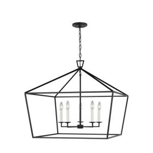 Dianna - 5 Light Wide Pendant - 28 inches wide by 25 inches high