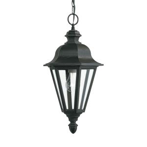 One Light Outdoor Pendant Fixture in Traditional Style - 10 inches wide by 18.75 inches high