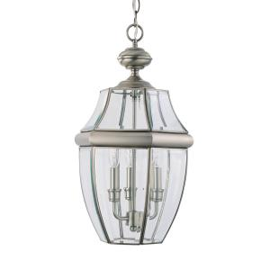 Lancaster - Three Light Outdoor Pendant in Traditional Style - 12 inches wide by 20.75 inches high