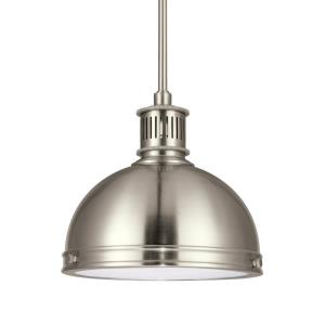 Pratt Street Metal - 9.5W One Light Pendant in Contemporary Style - 9.5 inches wide by 8.5 inches high