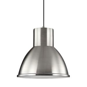 Division Street - One Light Down Pendant in Contemporary Style - 15.25 inches wide by 14.75 inches high