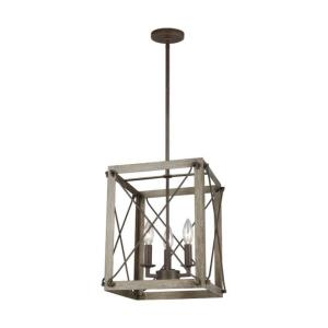 Thornwood - 3 Light Small Foyer - 12 inches wide by 14 inches high